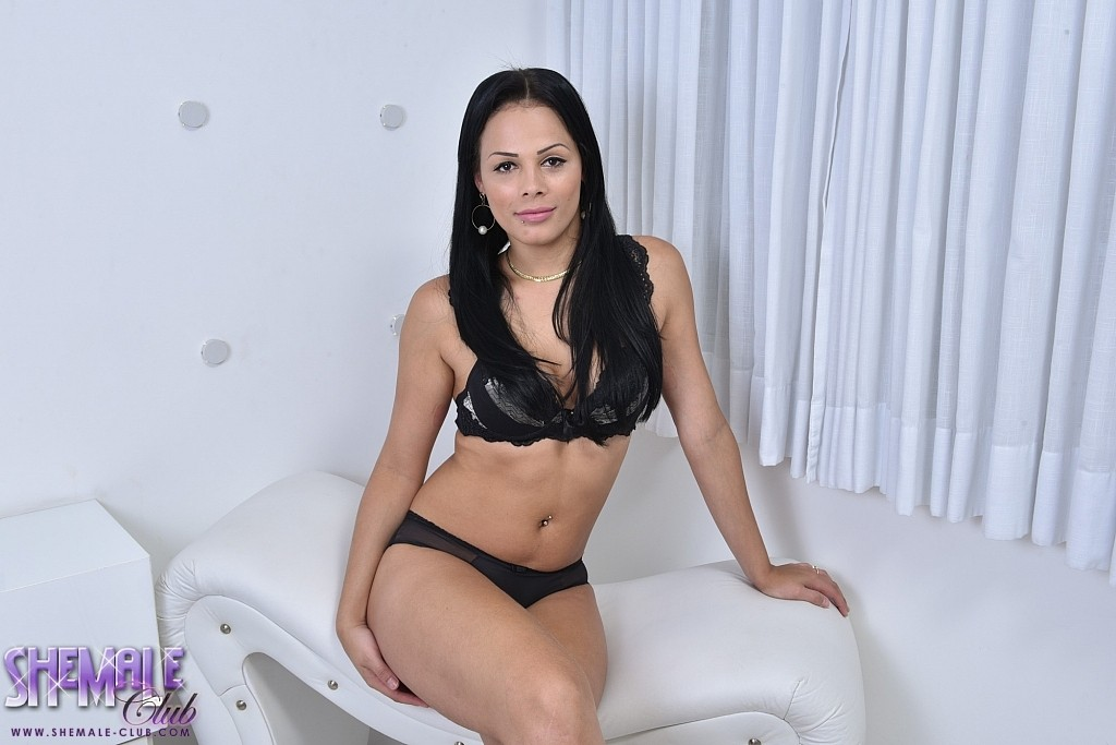 Bruna castro s huge juicy penish sticking out in an all white